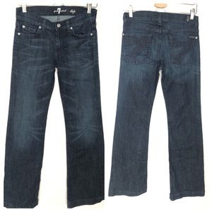 7 For All Mankind Seven Dojo Dark Wash Wide Leg 27